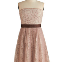 Ryu Pastel Long Strapless A-line Dainty Delicatesse Dress