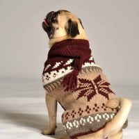 Chilly Dog Sweater in Rustic Snowflake Hoodie