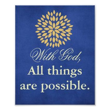 Bible Verse With God All things Possible Christian