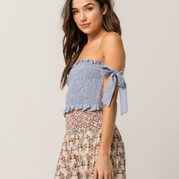IVY & MAIN Stripe Womens Tube Top