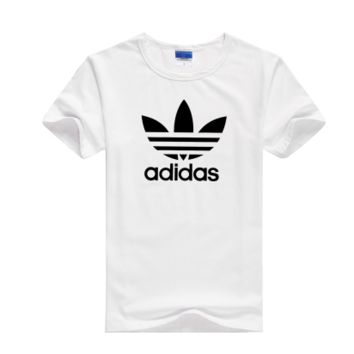 """""""Adidas"""" Unisex Fashion Casual Classic Clover Letter Print Round Neck Short Sleeve Cotton T-shirt"""