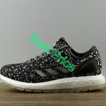 2018 Discount Sneakerboy x Wish x Adidas Pure Boost Glow In The Dark Mens Running Sneakers S80980 sneaker