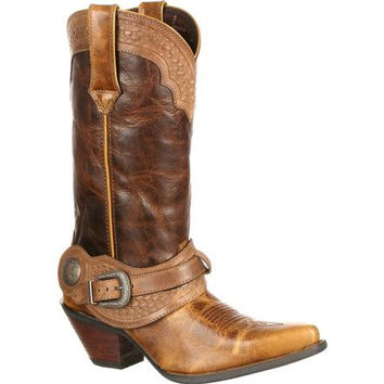 Crush by Durango Women's Spur Strap Western Boot
