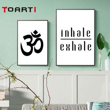 Inhale Exhale Yoga Meditation Modern Canvas Painting Wall Art Nordic Poster And Prints Modular Wall Picture For Bedroom Decor