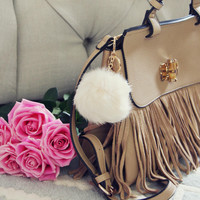 Pom Pom Purse Poof in Cream