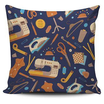 Sewing Pattern Pillow Cover