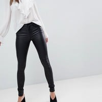 Vila Coated Skinny Jean at asos.com