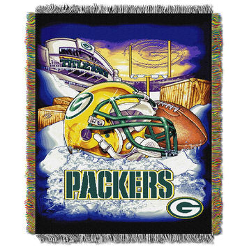 Green Bay Packers NFL Woven Tapestry Throw (Home Field Advantage) (48x60)