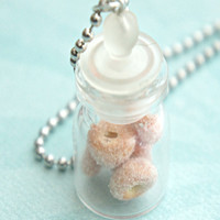 Sugar Donuts in a Jar Necklace