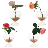 Clear Glass Vase Heart-shaped Home Wedding Decor For flowers 90751