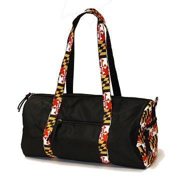 Maryland Flag Straps (Black) / Duffel Bag