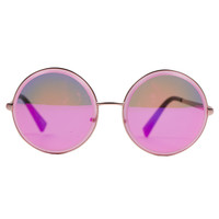 COTTON CANDY ROUND SUNGLASSES