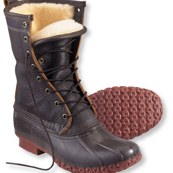 "Women's Bean Boots by L.L.Bean, 10"" Bison Shearling-Lined: Winter Boots 