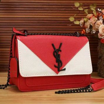 YSL Women New Fashion Leather Satchel Shoulder Bag Crossbody