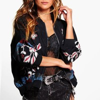 Boutique Rebecca Embroidered Bomber Jacket