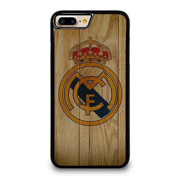 REAL MADRID FC WOODEN iPhone 4/4S 5/5S/SE 5C 6/6S 7 8 Plus X Case