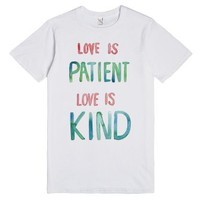 patient & kind-Unisex White T-Shirt