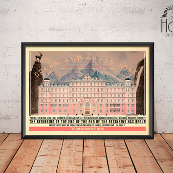 The Grand Budapest Hotel  - Quote Retro Poster - Movie Legends Series - Wes Anderson 2014