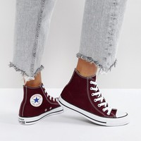 Converse Chuck Taylor All Star Hi Top Sneakers In Burgundy at asos.com