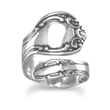 Oxidized Sterling Silver Spoon Ring
