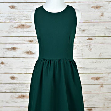 EVERLY: Green with Envy Dress - Hunter Green