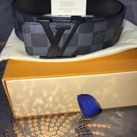 Louis Vuitton Damier Graphite Belt Size 90 New
