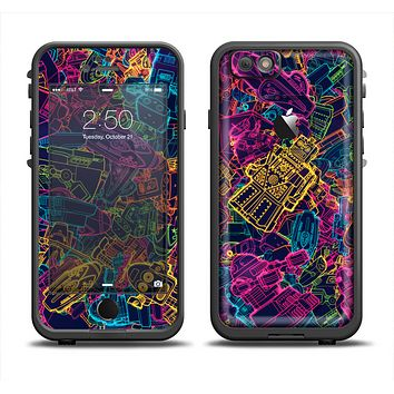 The Neon Robots Apple iPhone 6 LifeProof Fre Case Skin Set
