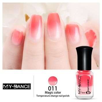 Hot Sale Water-based Temperature Colour Changing Nail Polish Non-toxic Thermal Fashion Manicure