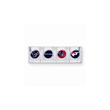 NFL Texans 4-piece Shot Glass Set - Etching Personalized Gift Item