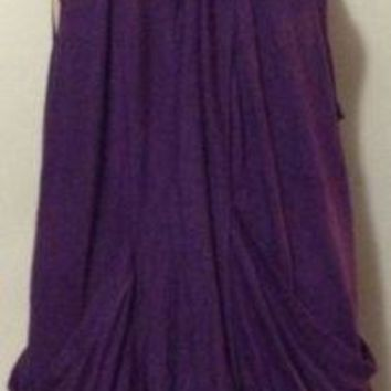 Faith21 Sleeveless Cover Pockets Shaw Summer Cover up shrug Top 2x Purple