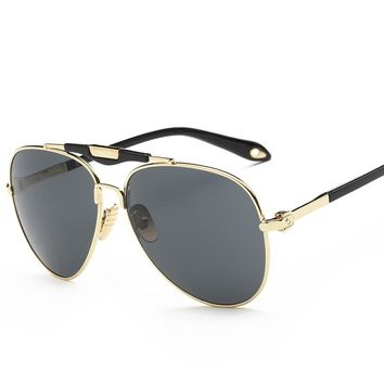 Oversized Aviation Sunglasses Men Women (153mm) Wide Sun Glasses for Large Face Woman Gold Rim Flat Top Fashion Man