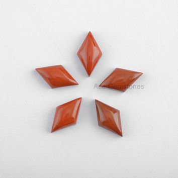 Red Jasper Smooth Loose Gemstone Fancy 10x18mm Calibrated Cabochons Wholesale Gemstone - 5 Pcs.