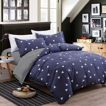 2017 Newest Bedding set Geomtric Bed Sheets Pillow Covers Bedspread Cotton Bedding-set Duvet Covers Quilt Sets No Comforter