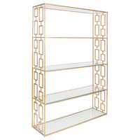Hays Gold Leafed Etagere