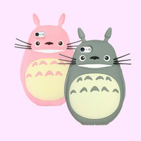 Totoro 3D iPhone Case - iPhone 4/4s // 5/5s - Pink / Gray