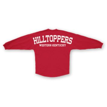 "Western Kentucky University Sweeper Jersey ""HILLTOPPERS"" Red"