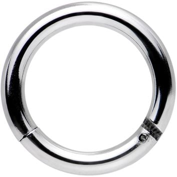 "14 Gauge 5/16"" Stainless Steel Hinged Segment Ring Circular Barbell"