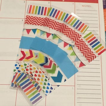 FREE SHIPPING A6 Washi stickers for Erin Condren Life Planner/Plum Paper Planner