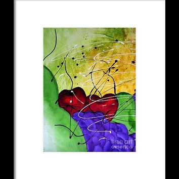 Fruit Salad 1 Still Life Painting By Saribelle Framed Print