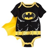 Batman® Newborn Boys' Caped Bodysuit - Black