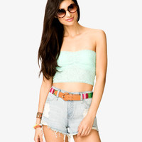 Floral Lace Crop Top | FOREVER 21 - 2027400311