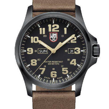 Luminox Mens Atacama Field Day Date 1920 Series - Black Dial - Leather Strap