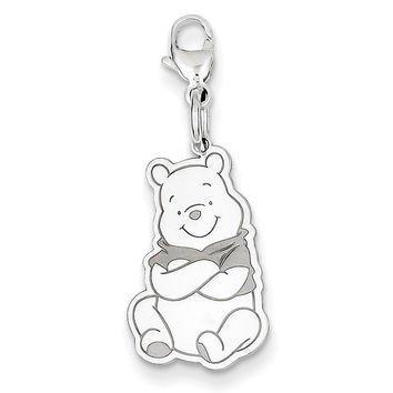 Sterling Silver Disney Winnie the Pooh Lobster Clasp Charm WD181SS