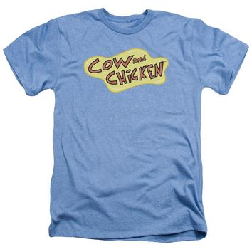 Cow And Chicken - Cow Chicken Logo Adult Heather