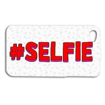 Funny SELFIE Red White Cute Hashtag Cool Phone Case iPhone 4 4s 5 5s 5c 6 6s +