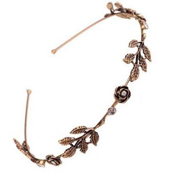 Victorian Rose Rebel Business Tiara in Gold or Silver
