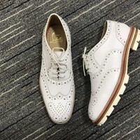 KUYOU Christian Louboutin Brogue shoes CL fashion casual shoes red sole for men and women jeans 9057