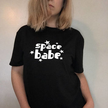 Space Babe, Space Babe T-shirt, Space, Outer Space, Space Shirt, Space Clothing, Tumblr Shirts, 90s, 90s Grunge, Grunge, 90s Clothing