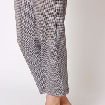 Micro Houndstooth Easy Pants / S M