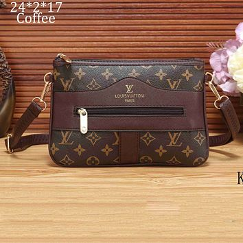 LV Louis Vuitton 2018 new women's shoulder bag handbag Messenger bag F-KSPJ-BBDL coffee